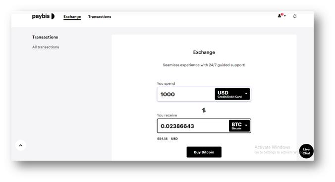 Bitcoin kaufen bei Paybis
